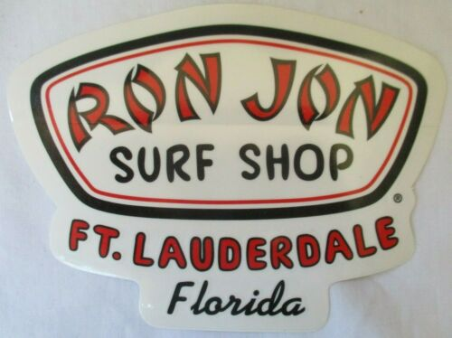 VINTAGE RON JON SURF SHOP FT LAUDERDALE FLORIDA ORIGINAL STICKER - BRAND NEW