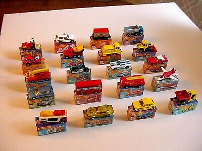 Matchbox Lesney Superfast LOT OF 20 VEHICLES - NM to MINT IN ORIGINAL BOXES !!!