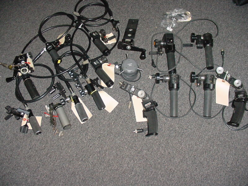 Lot of PRO Sony,JVC,Panasonic,Fuji zoom lens focus / zoom controllers. MAKEoffer