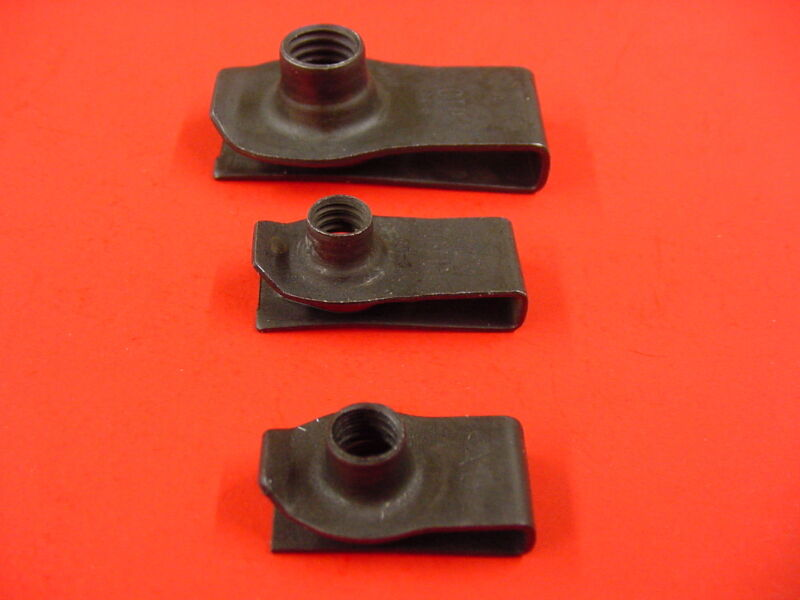 1946-1980 Ford 5pk 5//16-18 Extruded Fender U-Nuts Clips Hood Body Panel Trunk
