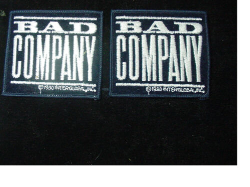 """LOT OF 2 BAD COMPANY VINTAGE IRON PATCH 1990  HEAVY ROCK  3.25""""X3""""-LICENSED"""
