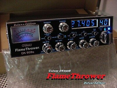 "Galaxy DX959B FLAMETHROWER Edition ""BLUE"" High Performance SSB/AM CB RADIO"