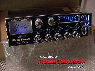 """Galaxy DX959B FLAMETHROWER Edition """"BLUE"""" High Performance SSB/AM CB RADIO   for sale  Shipping to Canada"""