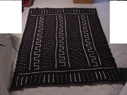 "Vintage handmade African art Mud cloth , fabric Mali 64""x46"" #JJ Tapestry"