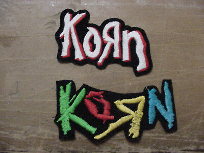 Set of 2 KORN  PATCH EMBROIDERED 90'S METAL-IRON ON PATCH --4