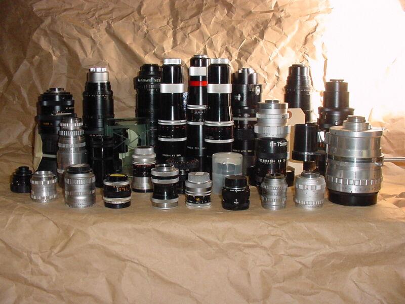 Lens lot CINE C MOUNT for Bolex Digi Black Magic, ADAPT2 MFT, NEX, N1 MAKE OFFER