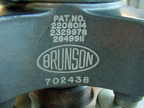 BRUNSON 1970 vintage Surveying Model 76-RH190 Jig Transit & TOOL BOX