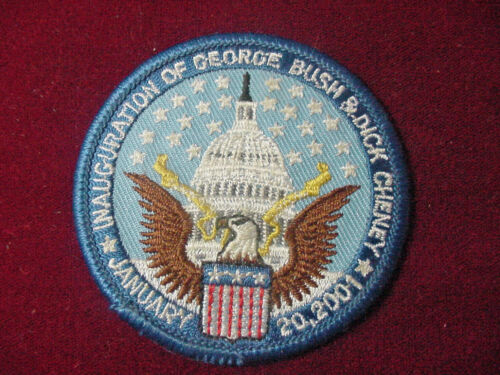 Vintage President George W Bush Dick Cheney Inauguration Embroidered Patch 2001