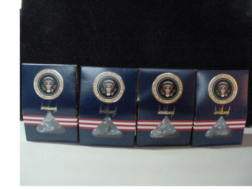 Lot OF 4 President TRUMP White House AF-1 Hershey Kisses Chocolate Candy