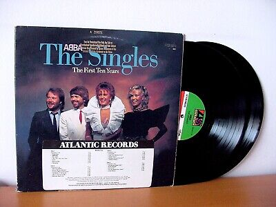 """ABBA """"The Singles – The First Ten Years"""" PROMO Double LP 1982 (ATLANTIC 80036)"""