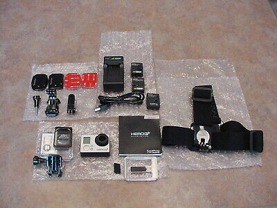 Gopro Hero 3+ Silver Edition Action Camera Camcorder With Accessories