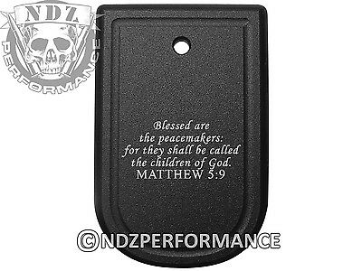 Bible Matthew 5 9 Magazine Floor Base Mag Plate For Springfield Xd 9Mm  40