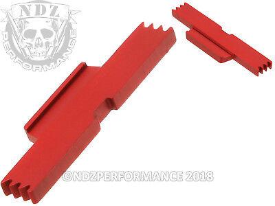 for Glock Gen 1-4 ESLL Extended Slide Lock Lever Cerakote USMC - Ruby Slide