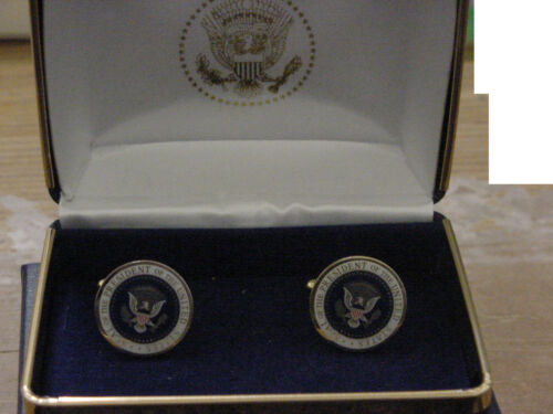 Pair of Presidential Barack Obama cufflinks - color seal