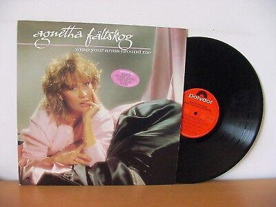 """ABBA solo AGNETHA FALTSKOG """"Wrap Your Arms Around Me"""" PROMO LP (POLYDOR 813 242)"""