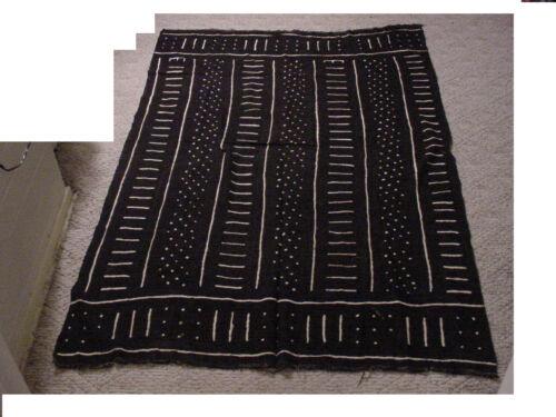"Vintage handmade African art Mud cloth , fabric Mali 63""x42"" #WW Tapestry"