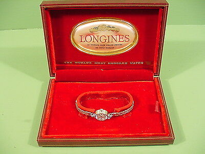 1950's Vintage LONGINES 4LLV Lady Cocktail 14K Solid Gold Original Box Swiss