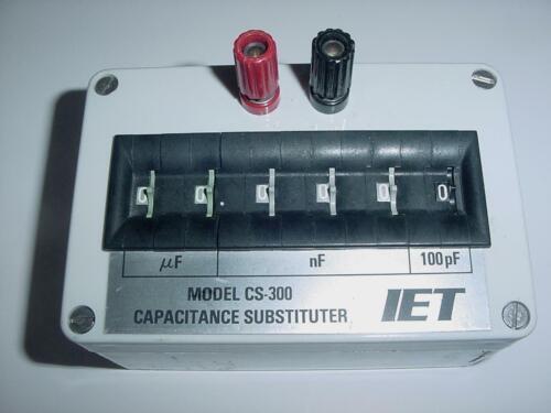 IET CS-300 Decade Box Cap. CS-300 Substituter 6 Ranges