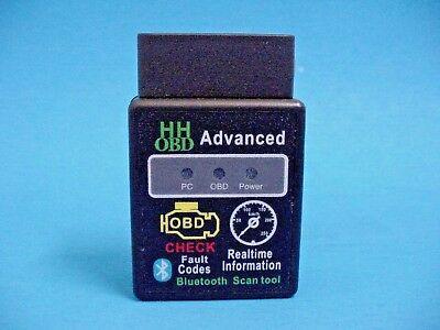 Fits Mercedes OBD2 OBDII Advanced Wireless Bluetooth Scanner Code Reader Tool ()