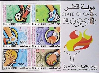 Qatar 1972 Olympic Games-Munich Mini Sheet. MNH.