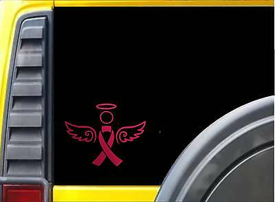 Pink Ribbon Dekoration (Pink Breast Cancer Ribbon Angel Awareness Sticker k031 6x5 inch decal sticker)