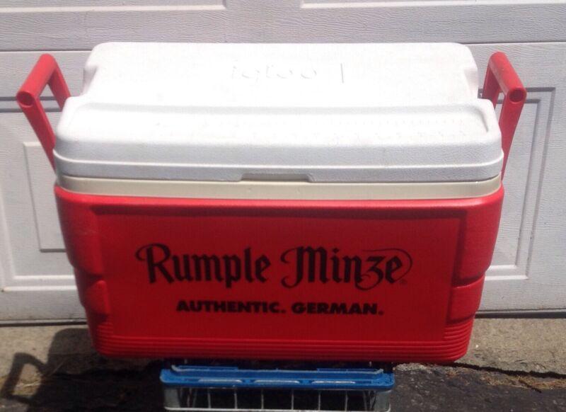 Vintage Rumpleminze Igloo Cooler Houston USA