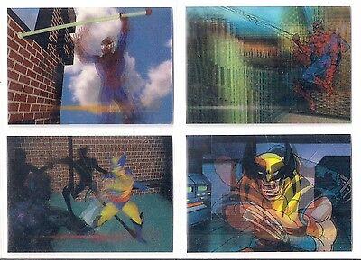 1996 Marvel Motion Lenticular Promo Set of 4  -  Very Rare