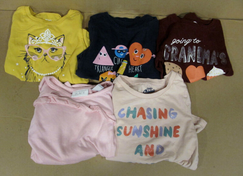 LOT of 5 GIRLS SHIRTS SIZE 4T PRE-OWNED