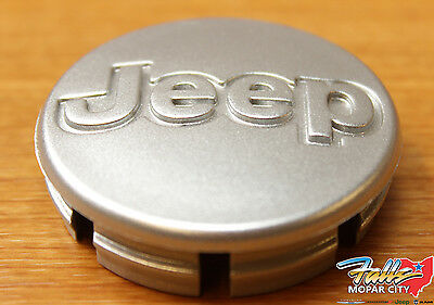 1998-2006 Jeep Cherokee Wrangler Metalic Silver Wheel Center Cap Mopar OEM
