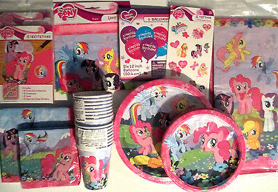 MY LITTLE PONY Birthday Party Supply SUPER Kit w/Loot Bags, Invites & Balloons ()