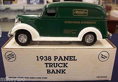 Ertl   1938 1 25 Panel Bank Truck   Jc Whitney   Locking Coin Bank   Nib