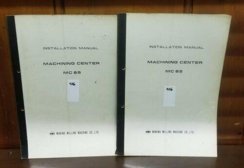 MAKINO MC65 INSTALLATION MANUAL
