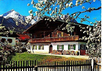 Oberbayerisches Bauernhaus , Ansichtskarte ; gelaufen