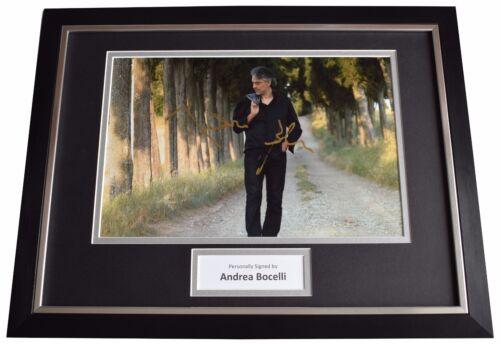 Andrea Bocelli Signed FRAMED Photo Autograph 16x12 display Opera Music & COA