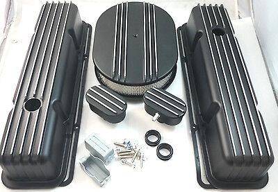 Nostalgic SB Chevy SBC Short Black Finned Engine Dress Up Kit 283 327 350 59-86