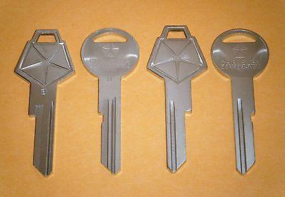 Mopar Key Blanks 4 Chrysler Key Blanks ((two Sets))