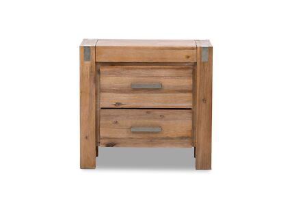 UNBOXED BRAND NEW 2 Drawer BEDSIDE TABLE