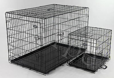 Dog Cage Pet Puppy Crate Folding Metal Training Travel Carrier 6 sizes easipet