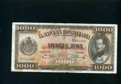 Bulgaria 1000 1.000 leva 1925 - F