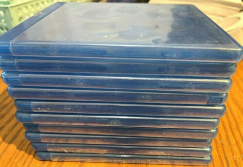 10 ECO-LITE DOUBLE Blu-ray Replacement Cases w LOGO 12mm 2-Disc W Logo RECYCLED