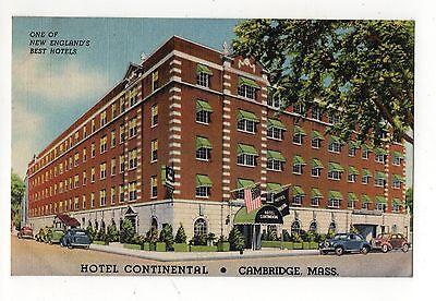 Hotel Continental Cambridge Massachusetts Vintage Postcard Aug16