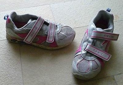 GEOX Blinker Blinki silber pink glitzer Sneaker Halbschuhe Gr. 34 funkeln