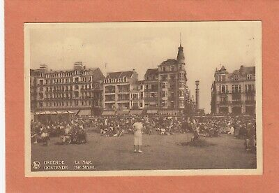 1088 - OOSTENDE - OSTENDE - HET STRAND - LA PLAGE - ECRITE + TIMBRE 403A