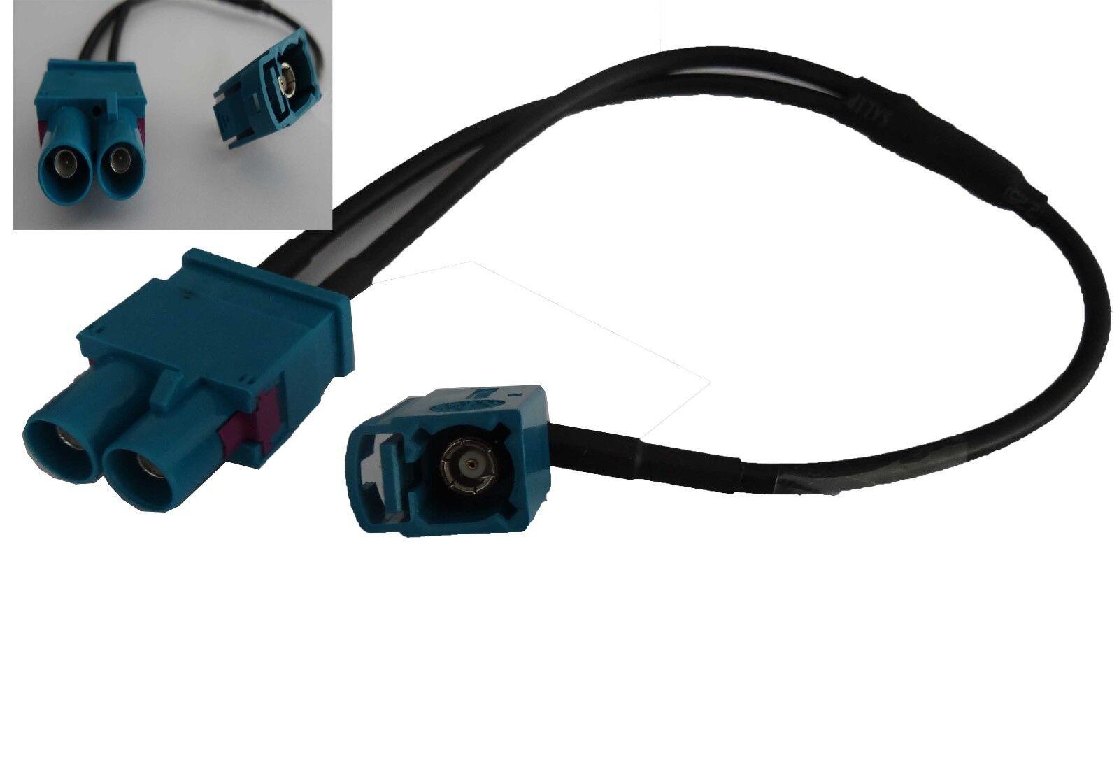 FAKRA (Z) Antenne Adapter Buchse - Doppel FAKRA Stecker Radio SKODA AUDI SEAT VW