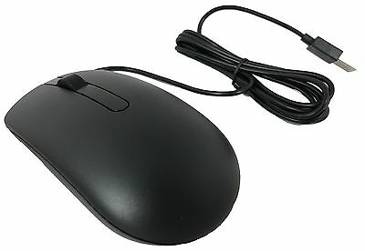 New Dell MS116 Black Optical 3-Button USB Mouse Scroll Wheel Wired XWP60 MG46T