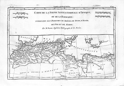 Antique maps, Carte de la partie septentrionale d'Afrique ou de la Barbarie: …