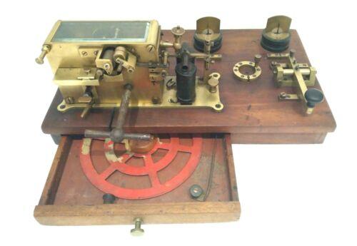 ANTIQUE SIEMENS RAILROAD TELEGRAPH SENDING RECEIVING STATION MORSE INK WRITER