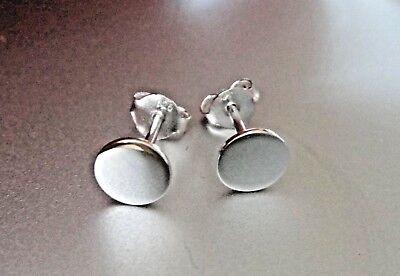 Small 6mm Sterling Silver Shiny Flat disk Studs Posts Earrings! 6 Mm Flat Stud