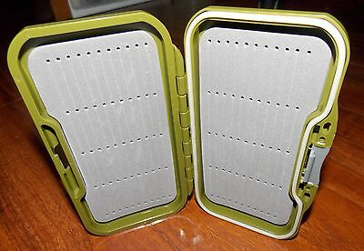 Slotted Foam Fly Box - FLY BOX Slotted Foam Olive Pocket Size Fishing Steamers/Dry/Nymph FREE SHIPPING