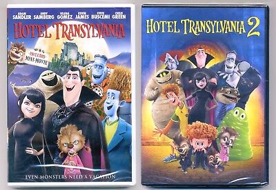 Hotel Transylvania 1&2 PG animated comedy movies, new DVDs lot Halloween Dracula - Animated Halloween Movies